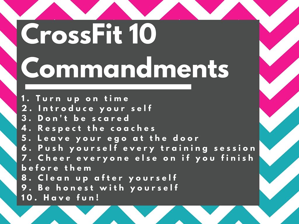 CrossFit 10 Commandments